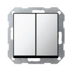 GIRA | 0125605 Выключатель 2кл с самовозв хром Standart 55 Gira