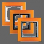 GIRA | 021114 Рамка 1-местная янтарь антрацит Esprit Gira