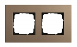 GIRA | 0212221  Рамка 2-местная MPx светло-коричневый Esprit Gira