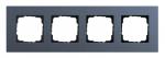 GIRA   0214227  Рамка 4-местная MPx синий Esprit Gira
