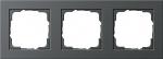 GIRA | 021323 Рамка 3-местная черный E2 Gira