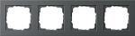 GIRA | 021423 Рамка 4-м черный E-2 Gira