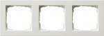 GIRA | 021329 Рамка 3-местная белый/глянец E2 Gira