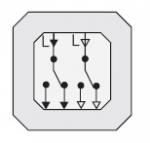 GIRA | 015500 Механизм 2 клавишного кнопочного выключателя с двумя заземл. контактами Gira