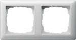 GIRA | 021203 Рамка 2-местная белый глянец Standart 55 Gira