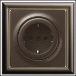 GIRA | яяяя188602 Розетка перламутр коричневый S-Classic Gira