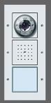 GIRA | 126965 Дверная станция  для открытого  монтажа с цв. кам.громкогов. 1-кл. аллюминий Gira