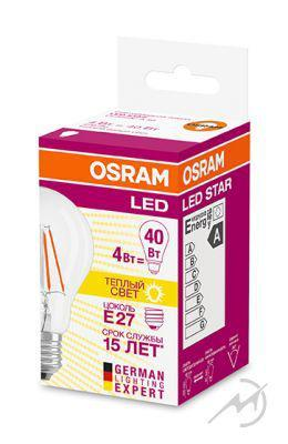 OSRAM | E27 P 5 (=40W)/827 DIM LED SCL P40  FILLED Osram 4058075101456
